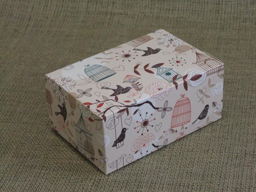 Коробка-контейнер универсальная 18х12х8см Птички