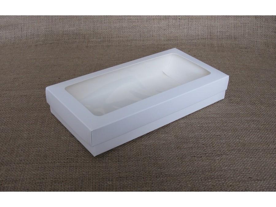 Коробка для десерта универсальная  15х30х5см  Белая с окном
