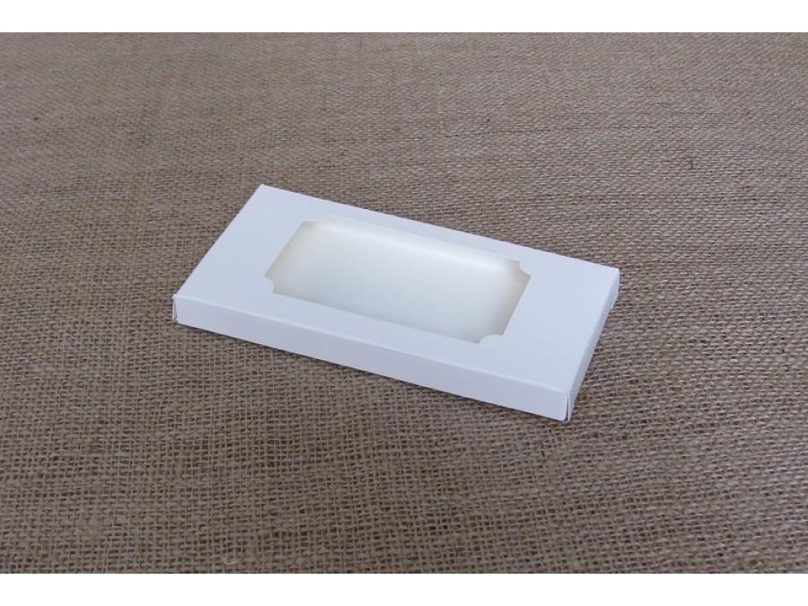 """Коробка для плитки шоколада 16х8х1,5см """"Белая2"""""""