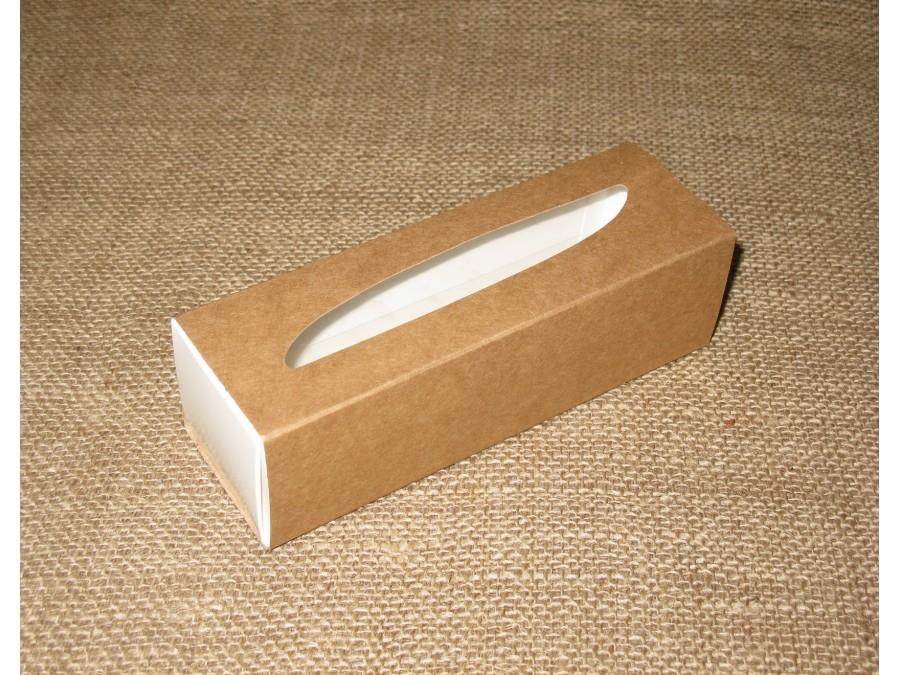Коробка для макаронс 17х5,5х5см  Крафт