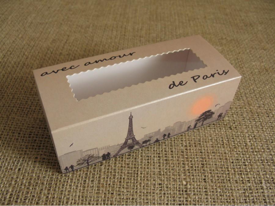 Коробка для макаронс,14х5,5х4,5см Париж
