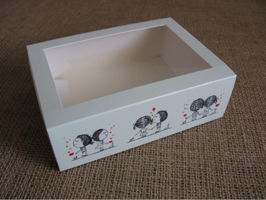 Коробка для макаронс на 12шт 11,5х15,5х5см  Щастя поруч