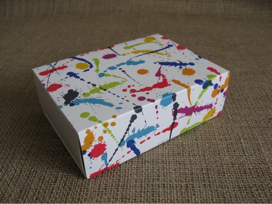 Коробка для макаронс на 12шт 11,5х15,5х5см  Кляксы