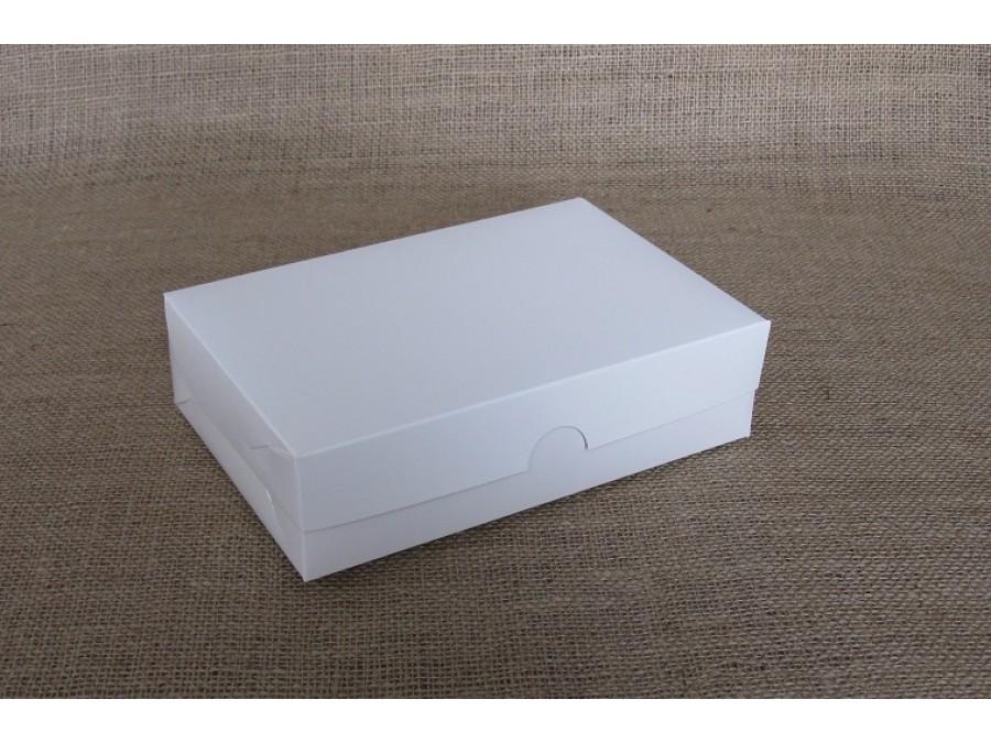 Коробка для зефира, эклеров 22,5х15х6см, Белая