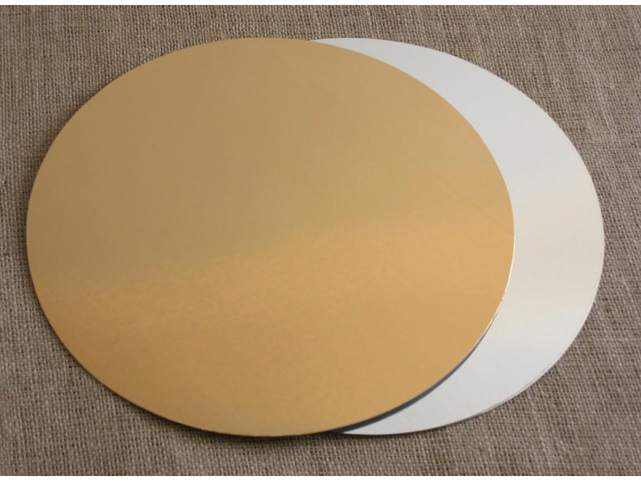 Подложка круглая Золото/Серебро d 12 см