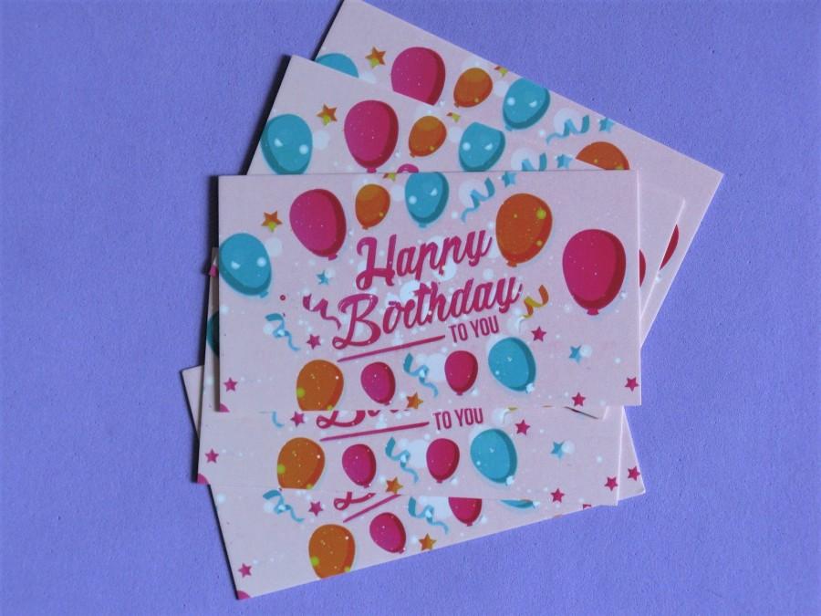 """Бирки-визитки """"Happy Birthday"""", Набор 10 шт"""
