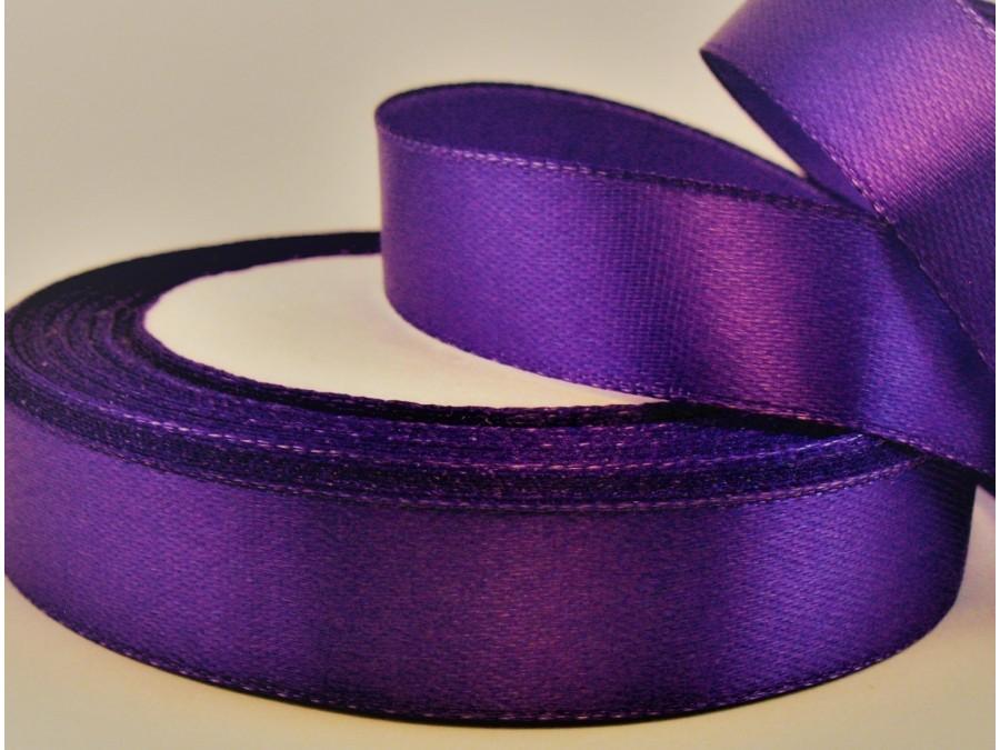 Лента атласная 1,2 см х 23 м Фиолетовая
