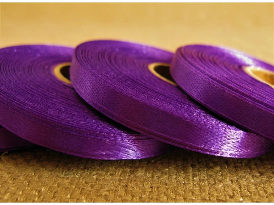 Лента атласная 0,6 см х 23 м, Фиолетовая