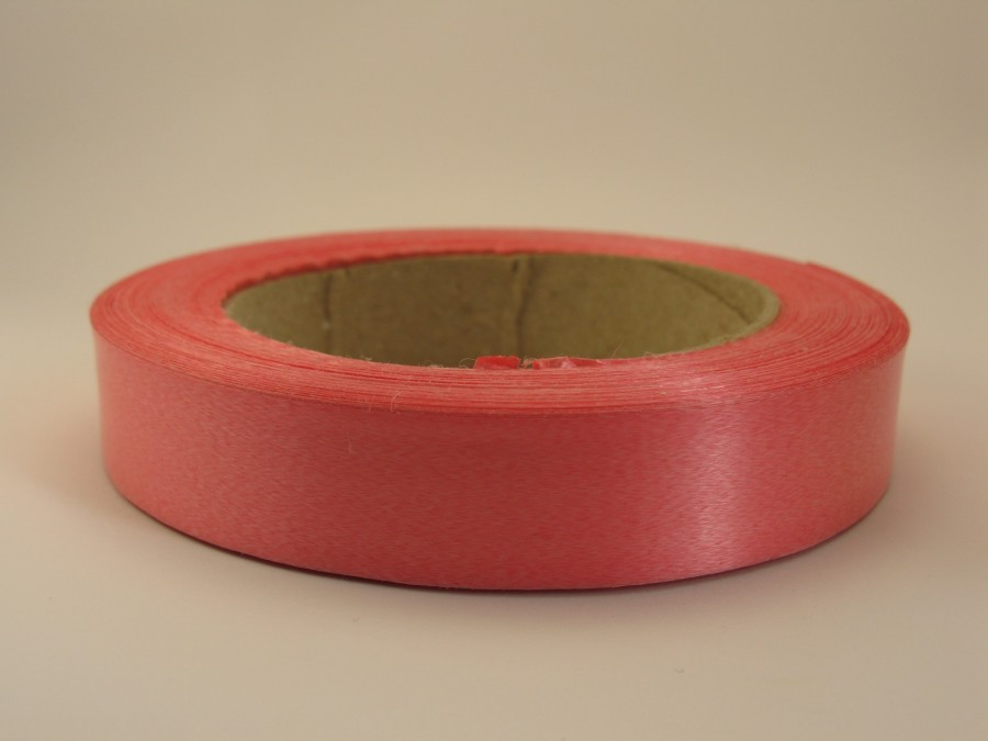 Лента полипропиленовая 2 см х 50 м Розовая (флора)