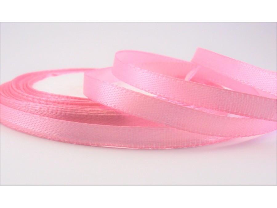 Лента атласная 0,6 см х 23 м, Розовая