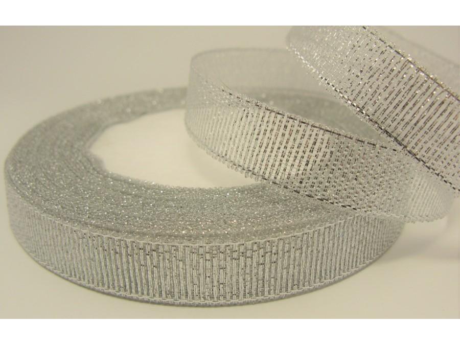 Лента парча Серебро 1,5 см х 20 м