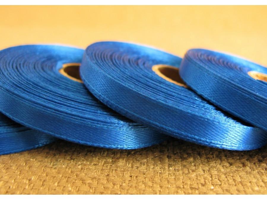 Лента атласная 0,6 см х 23 м, Синяя