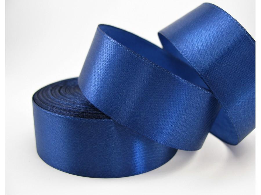 Лента атласная 2,5 см х 23 м Темно-синяя