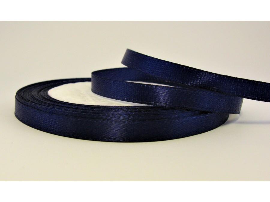 Лента атласная 0,5 смх 23 м, Темно-синяя