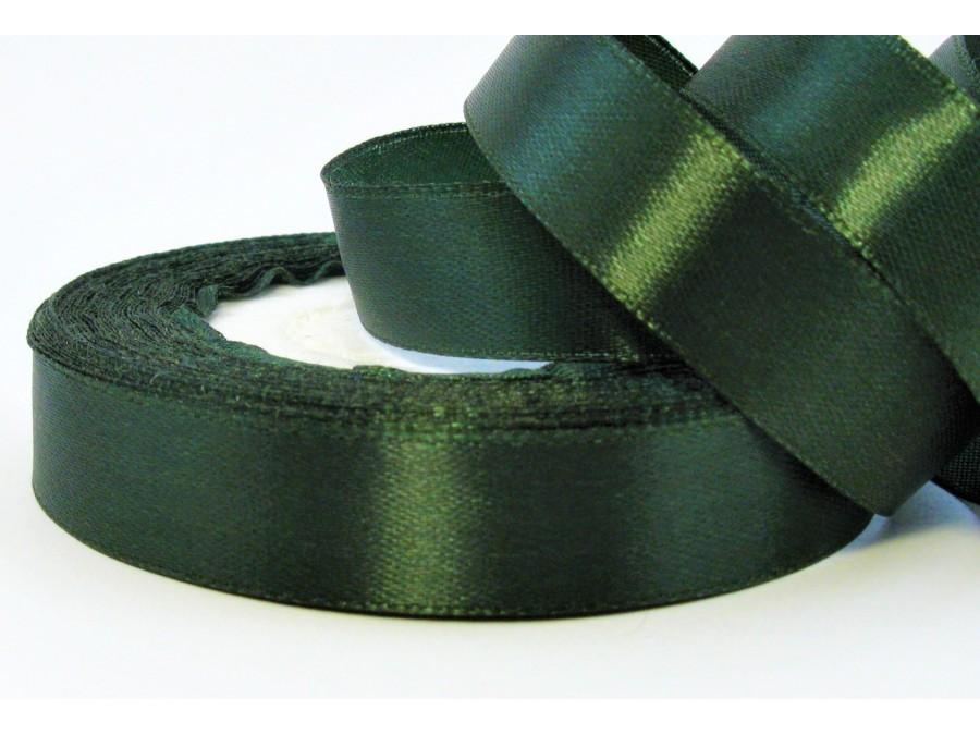 Лента атласная 1,5 см х 23 м, Темно-зеленая