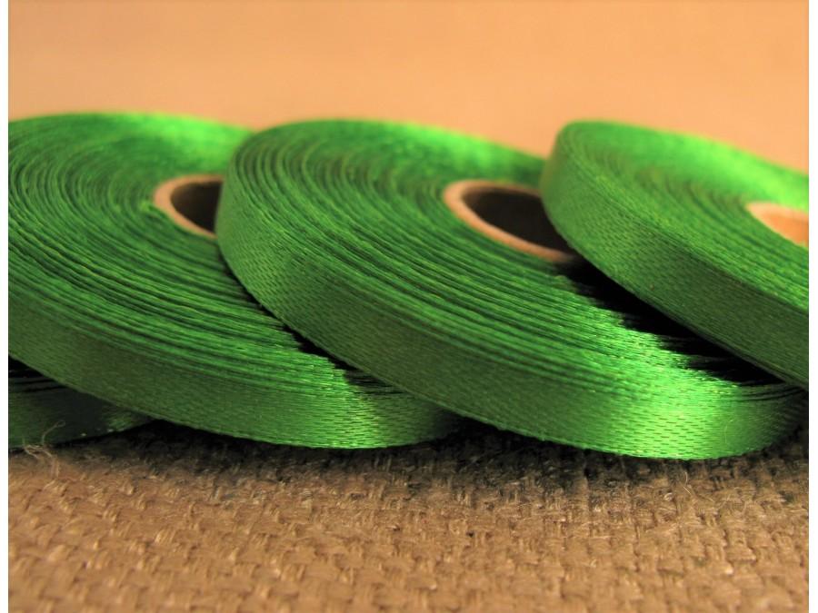 Лента атласная 0,6 см х 23 м, Зеленая