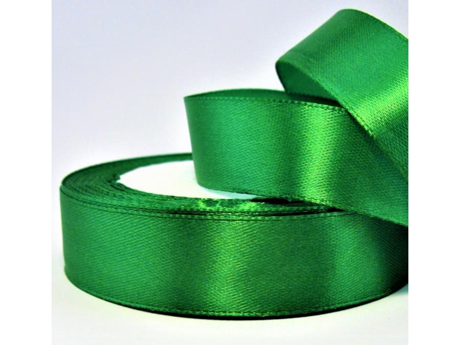 Лента атласная 2 см х 23м Зеленый лист