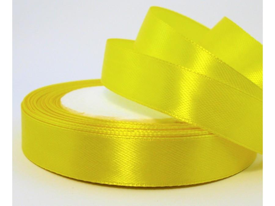 Лента атласная 1,5 см х 23 м, Желтая