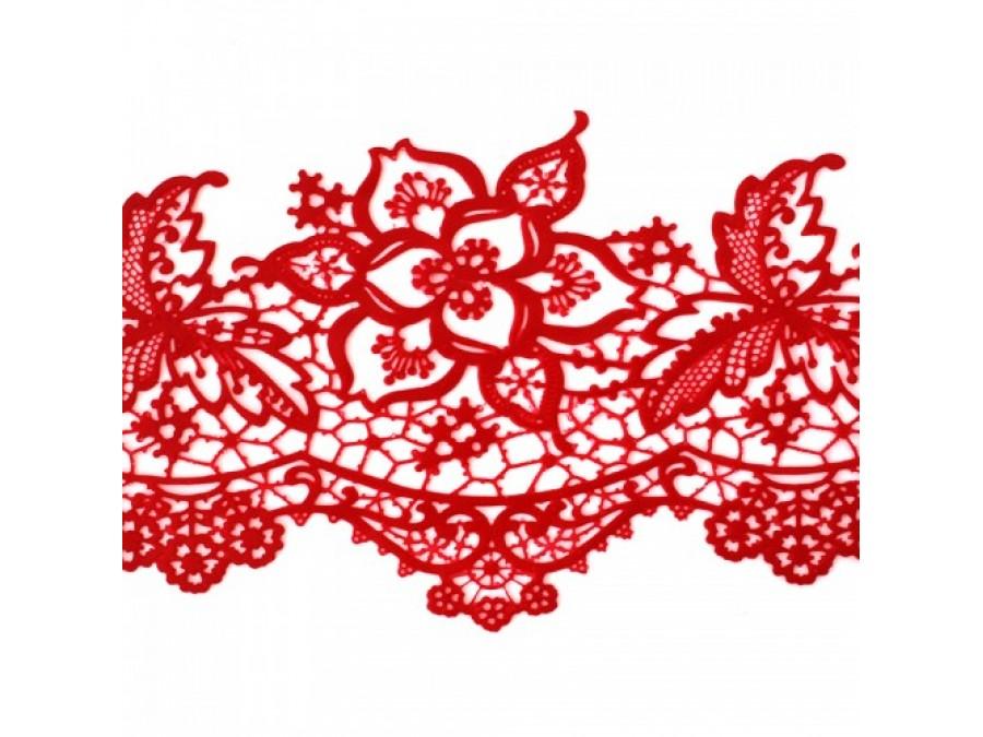 Кружево кондитерское 15 красное