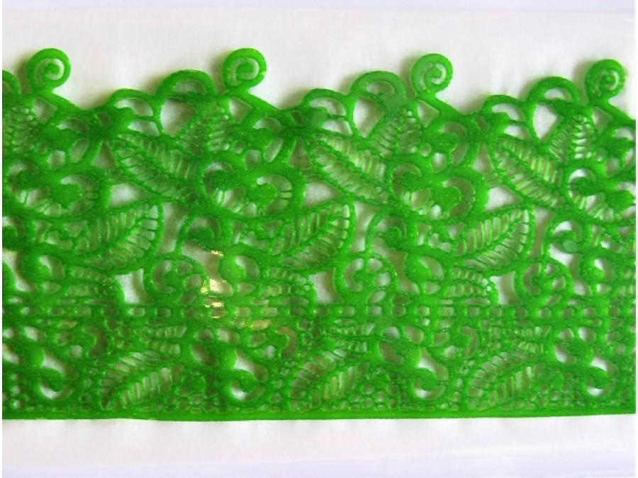 Кружево кондитерское №17 зеленое