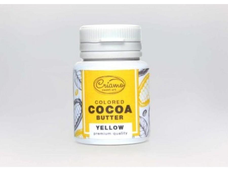 Краситель какао масло для шоколада Желтый