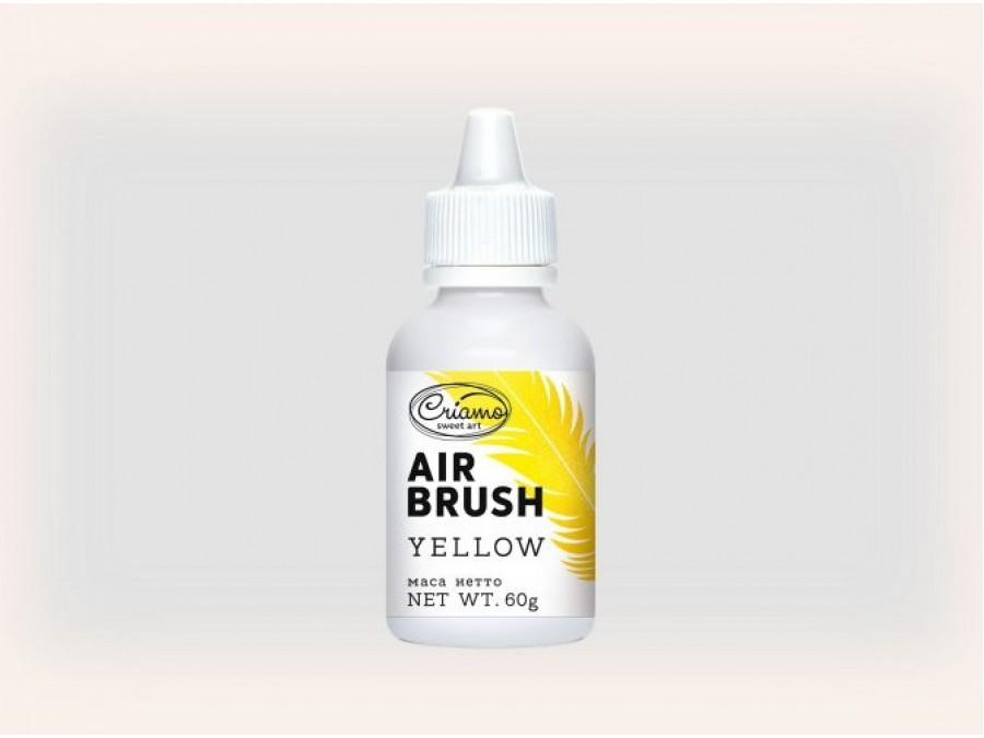 Краситель для аэрографа Criamo Airbrush 60г Желтый