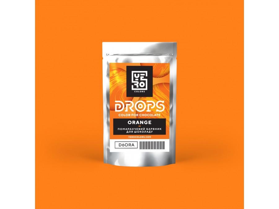 Дропсы для окрашивания шоколада Yero Оранжевый