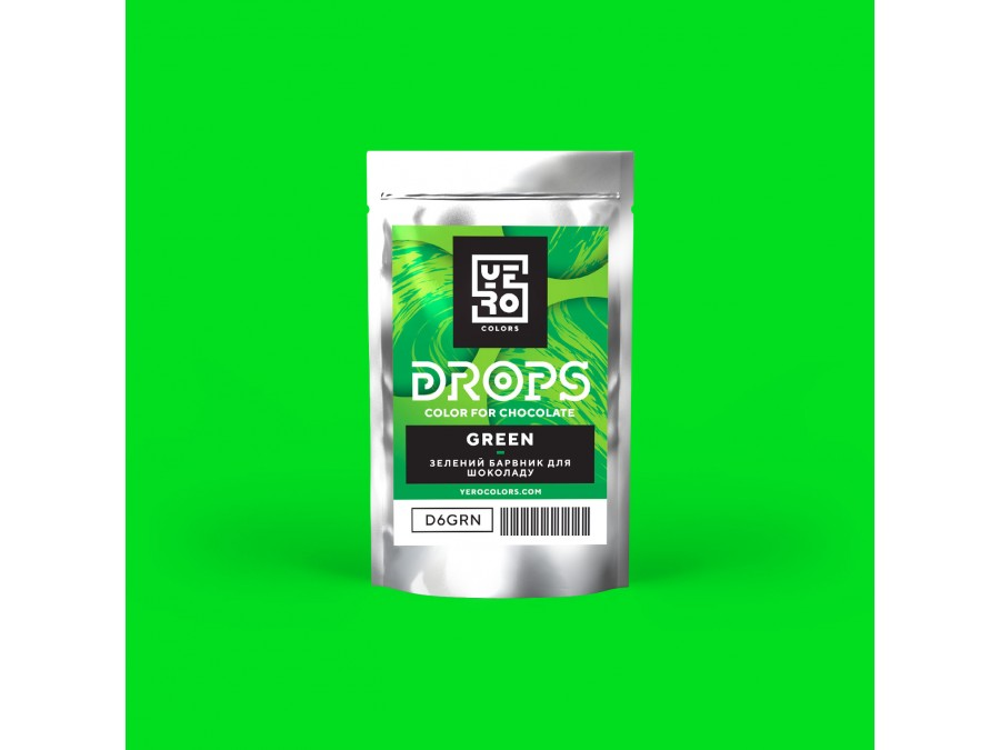 Дропсы для окрашивания шоколада Yero Зеленый