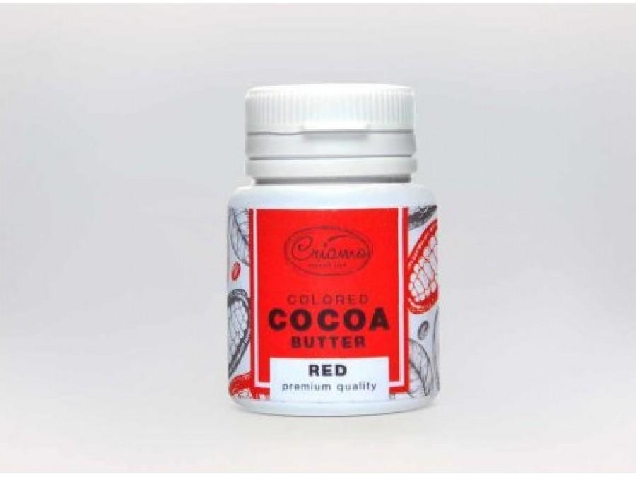 Краситель какао масло для шоколада Красный