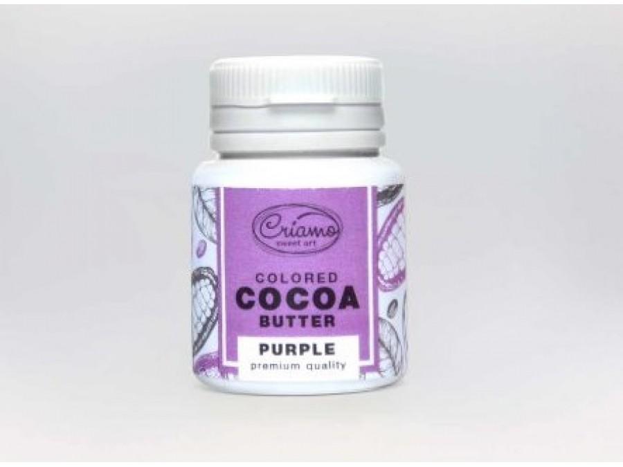Краситель какао масло для шоколада Пурпурный