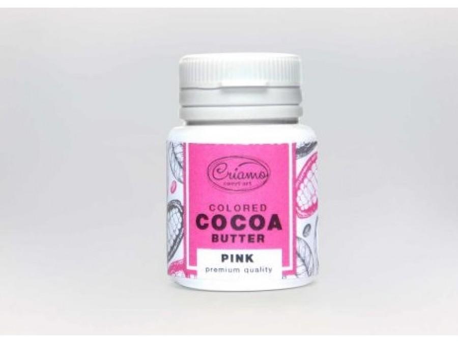 Краситель какао масло для шоколада Розовый
