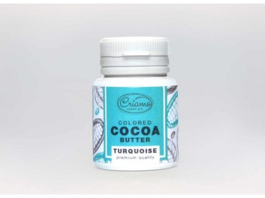 Краситель какао масло для шоколада Бирюзовый