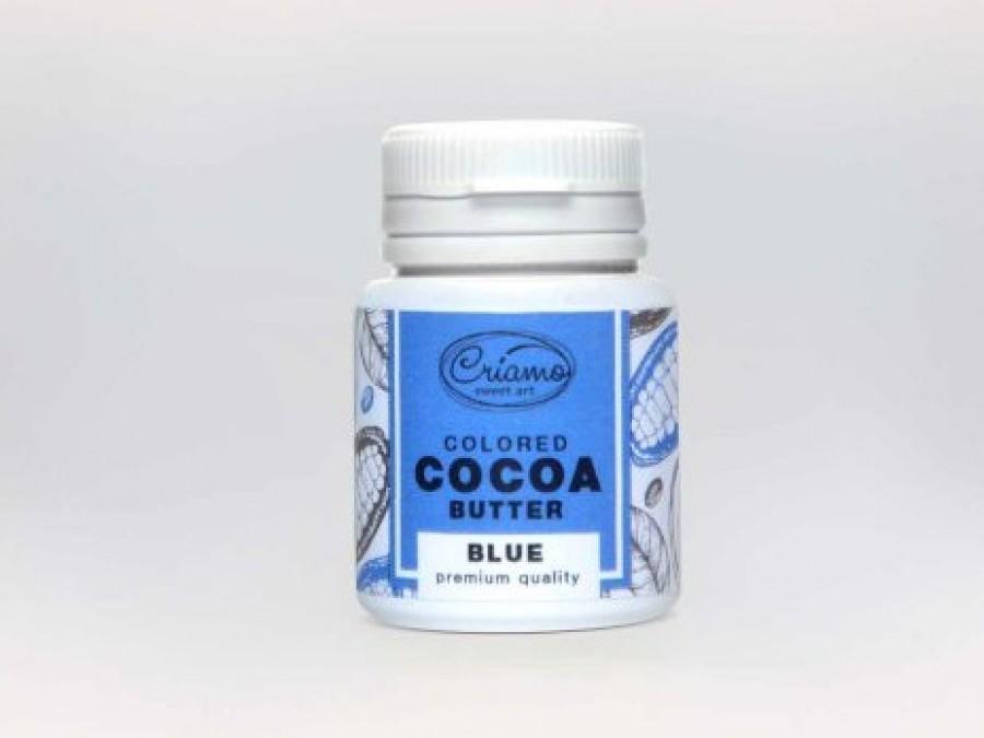 Краситель какао масло для шоколада Голубой