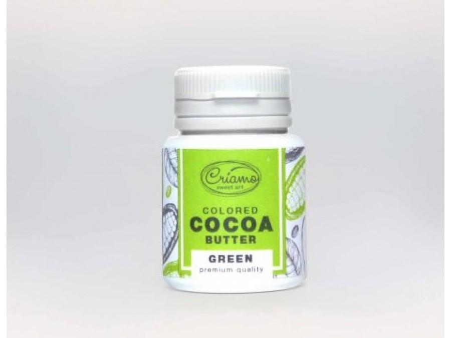 Краситель какао масло для шоколада Зеленый