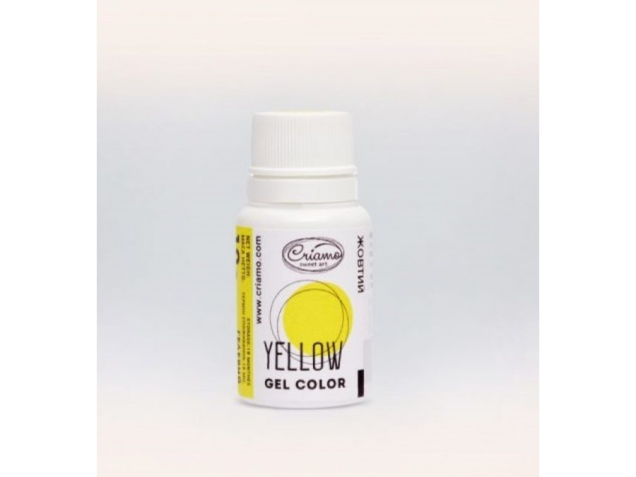 Краситель гелевый Criamo 10г Желтый/Yellow
