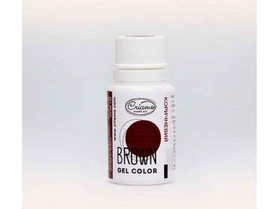 Краситель гелевый Criamo 10г Коричневый/Brown