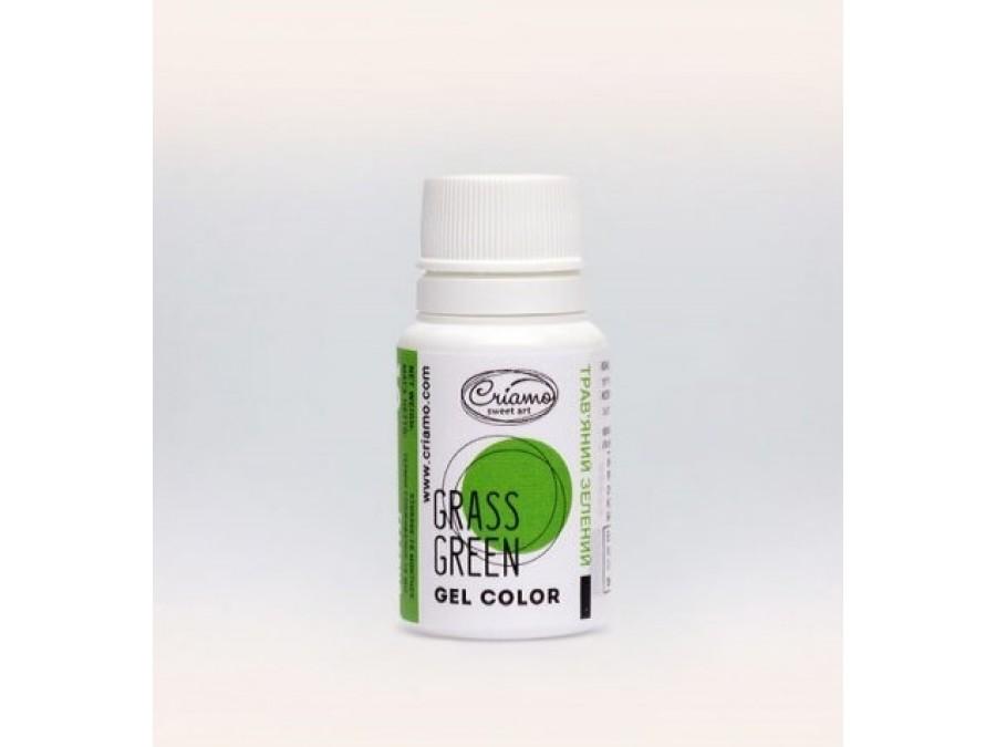 Краситель гелевый Criamo 10г Зеленая Трава/Grass Green