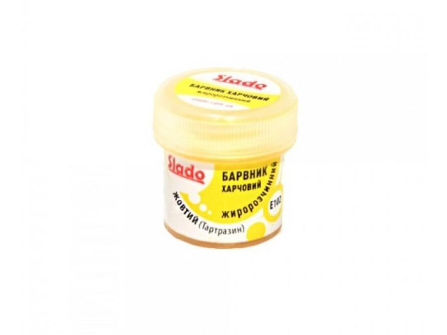 Краситель сухой жирорастворимый Желтый (Тартразин) 2 г