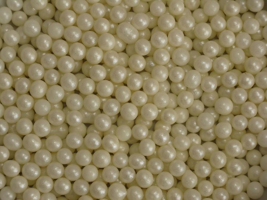 Посыпка Шарики сахарные 5мм - Жемчуг Белый 20 г