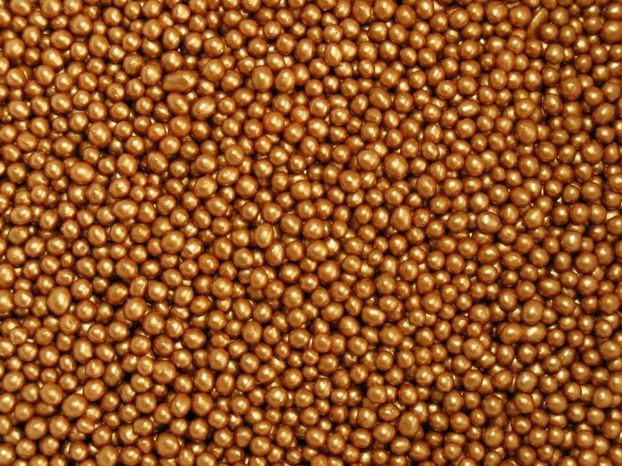 Посыпка - Рисовые шарики в шоколадной глазури (3 мм) - Бронзовые 100 г