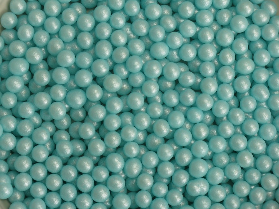 Посыпка Шарики сахарные 5мм - Жемчуг Голубой 50 г
