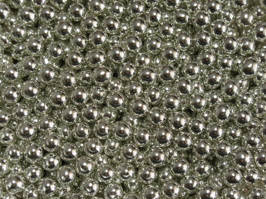 Посыпка сахарная 6 мм - Шарики Серебро 100 г