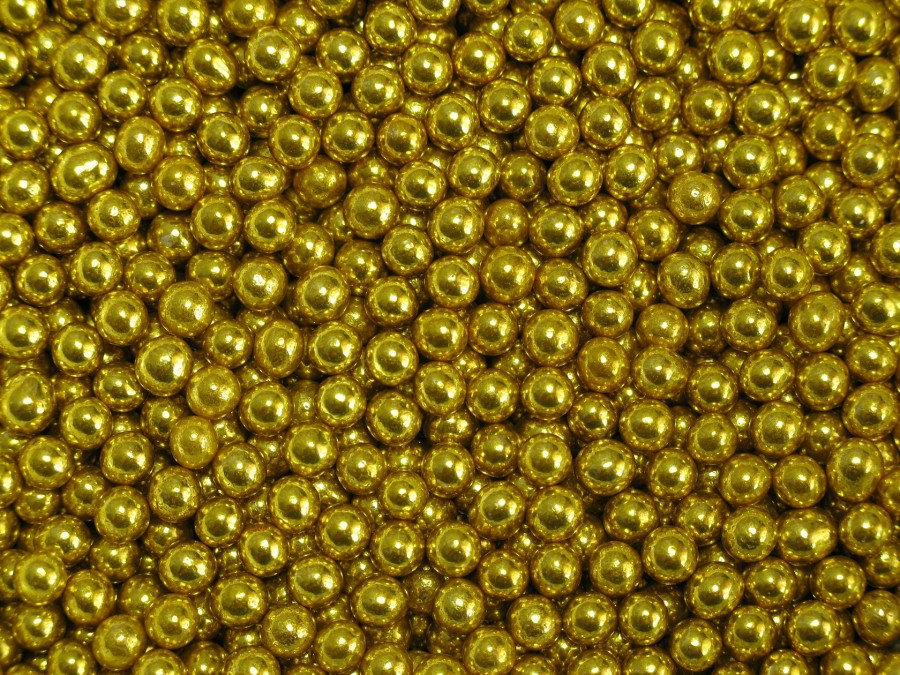 Посыпка сахарная 5 мм - Шарики Золото 20 г