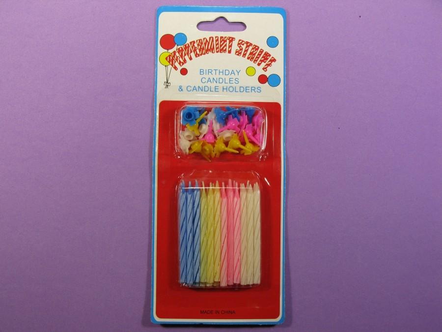 Свечи в торт 24 шт разноцветные б/к